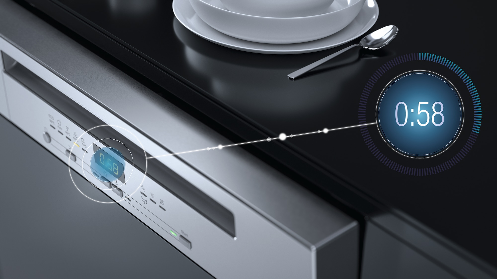 Dishes Cleaned in 58 Minutes with QuickIntense Wash