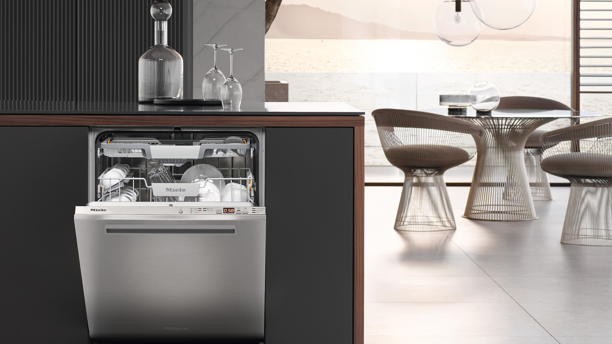 High End Dishwashers Featuring Pocket Handle
