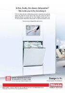 Miele G 6000 dishwasher advertising 2014