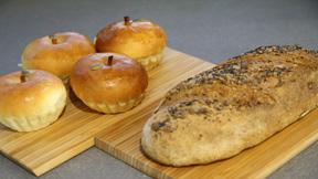 The Miele Baking Club: Multigrain Bread and Apple & Custard Buns