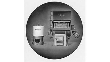 Die ersten kohle- und gasbefeuerten Trommelwaschmaschinen