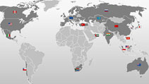 Miele Weltkarte